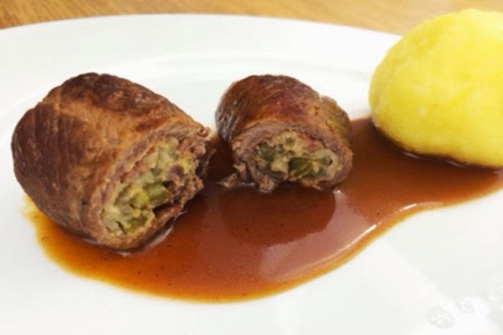 Rezept Beste Rouladen zubereiten Rinderroulade Fleisch und Sauce einfach