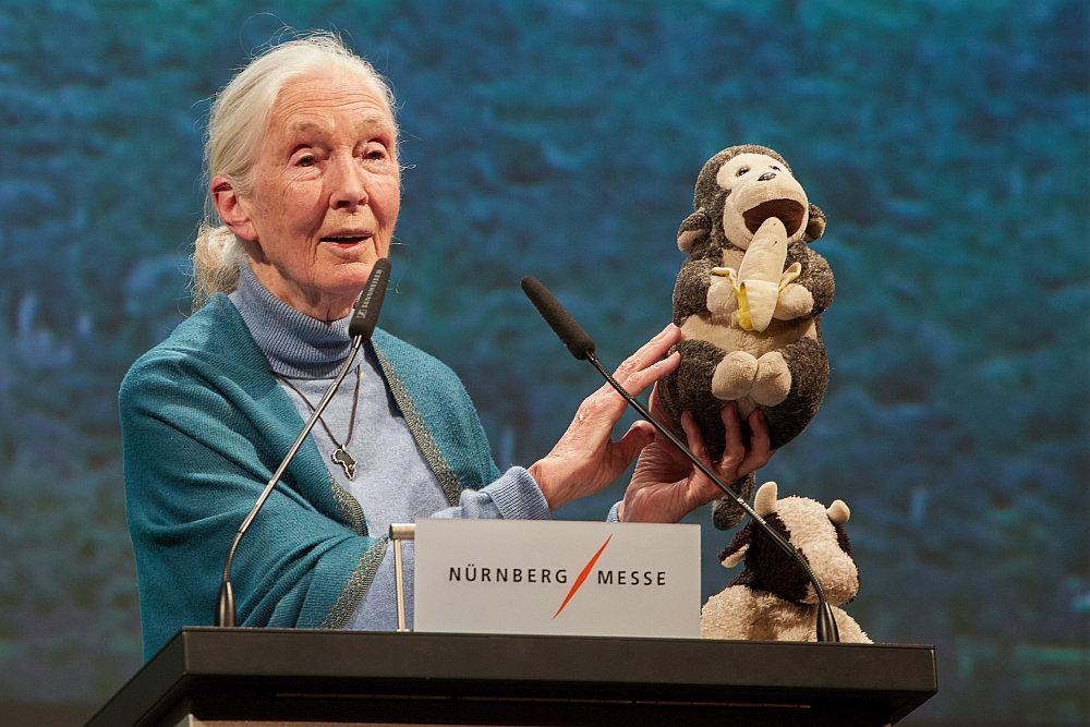 Vortrag der Forscherin und Aktivistin Jane Goodall auf der Biofach 2020